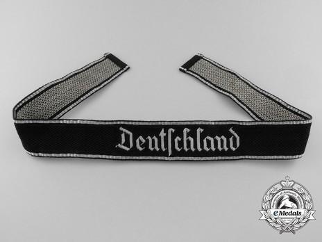 SS Deutschland Officer Cuff Title (flatwire form 1 version) Obverse