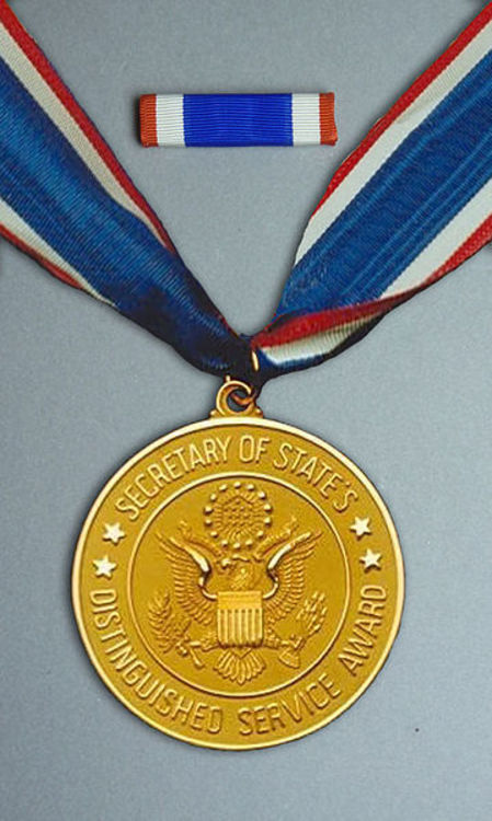 359px dos distinguished service award medal set
