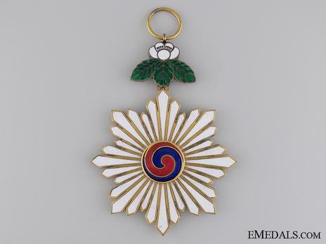 Order of the Taeguk, I Class Sash Badge Reverse