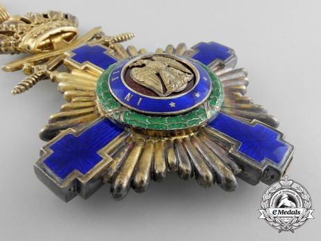 The Order of the Star of Romania, Type I, Military Division, Commander's Cross Obverse
