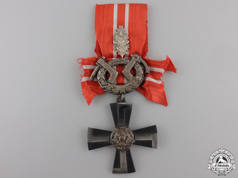 Order of the Cross of Liberty, Military Division, IV Class (with oak leaves 1941) Obverse