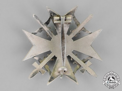 Spanish Cross in Silver with Swords Reverse