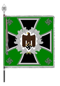German Army General Army Unit Flag (Mountain Foot version) Obverse