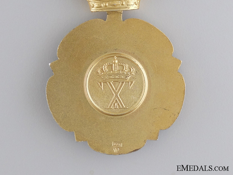 Order of Beneficence, Gold Cross (1948-1973) Reverse