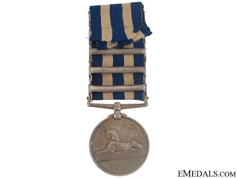 Silver Medal (with 5 clasps) Reverse