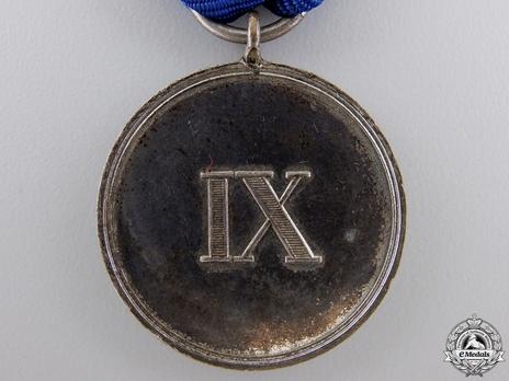 Type II, III Class Medal (in silvered nickel)