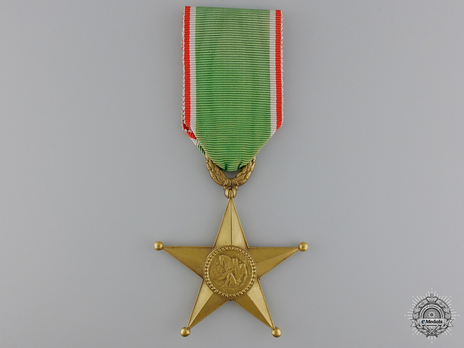 Order of the Star of Italian Solidarity, Type I, III Class Obverse
