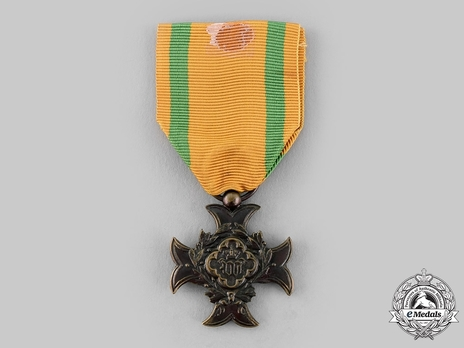 Service Cross for Military Personnel, III Class Cross (for Non-Commissioned Officers and Soldiers, for 10 Years, 1882-) Obverse