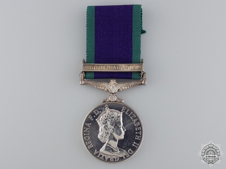 "Silver Medal (with ""SOUTH ARABIA"" clasp) Obverse"