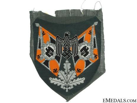 German Army Standard Bearer Arm Shield (Cavalry version) Obverse