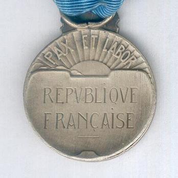 """Silver Medal (stamped """"FRAISSE,"""" 1929-1939) Reverse"""