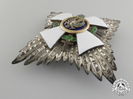 Order of the Roman Eagle, Grand Officer's Cross Breast Star (with wreath) Obverse