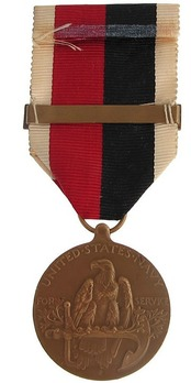 """Bronze Medal (for Navy, with """"EUROPE"""" clasp) Reverse"""