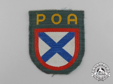 German Army Russian Army of Liberation Sleeve Insignia Obverse