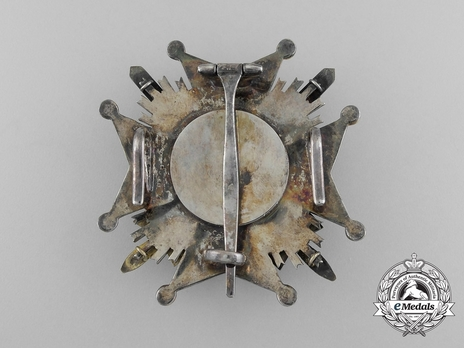 Order of Civil and Military Merit of Adolph of Nassau, Grand Officer Breast Star Reverse