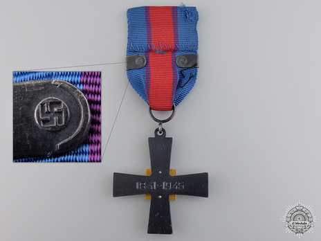 """Commemorative Cross for the Air Force (with """"LENTOJOUKOT"""" clasp) Reverse"""