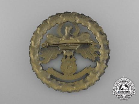 Tyrolean Marksmanship Gau Master Shooting Badge, Type IV (large version) Reverse