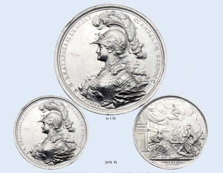 Coronation of Catherine II Table Medal (in platinum)