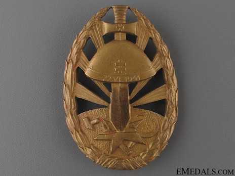 Badge of Honour for Service on the Eastern Front, in Bronze Obverse