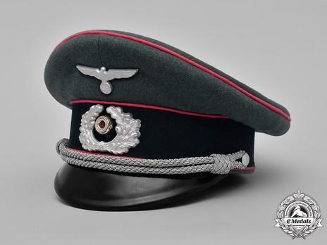 German Army Armoured Officer's Visor Cap Profile