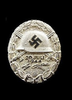 """Wound Badge """"20 July 1944"""", in Silver Obverse"""