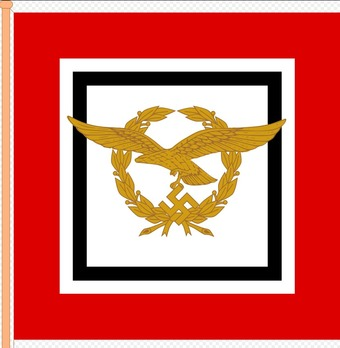 Luftwaffe Command Flag of the Secretary of State for Air Travel and Luftwaffe Inspector General Obverse