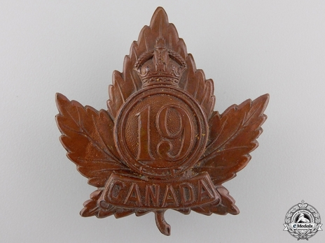 19th Infantry Battalion Other Ranks Cap Badge (Circle) Obverse