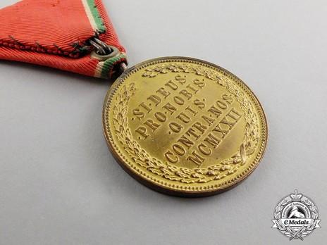 Hungarian Order of Merit, Medal of Merit in Bronze, Military Division Reverse