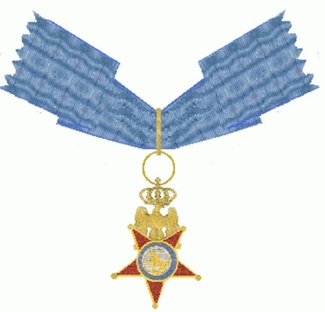 Royal Order of the Two Sicilies, Type I, Commander (without crown) Reverse
