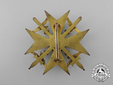 Legion Condor, Spanish Cross in Gold with Swords Reverse
