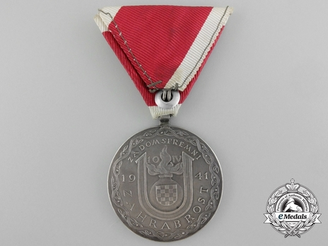 Ante Pavelic Large Silver Bravery Medal Reverse