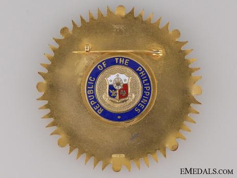 Order of Kalantiao (Kalantiaw), Grand Cross Breast Star Reverse
