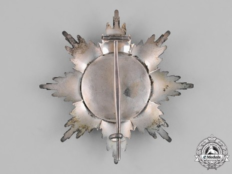 Grand Cross Breast Star (in silver and gold) Reverse