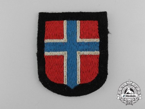 Waffen-SS Norwegian Volunteer Arm Shield Obverse