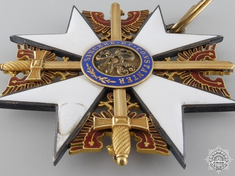 Order of the Red Eagle, Type V, Military Division, Grand Cross (with swords, in gold)