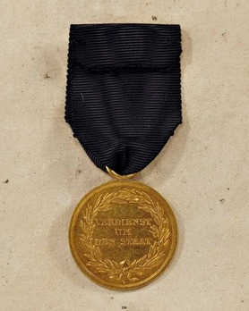 "Military Merit Medal, Type II, in Gold (stamped ""L"")"