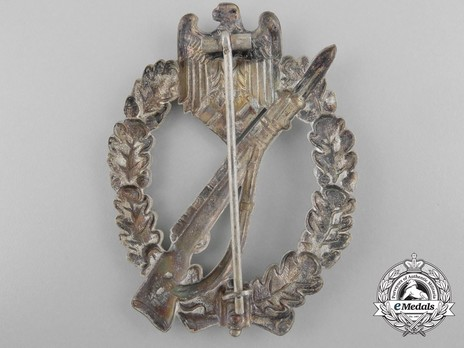 Infantry Assault Badge, by B. H. Mayer (in silver) Reverse