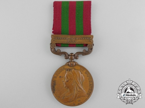 """Bronze Medal (with """"RELIEF OF CHITRAL 1895"""" clasp) (1896-1901) Obverse"""