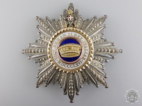 Order of the Crown of Italy, Grand Cross Breast Star Obverse