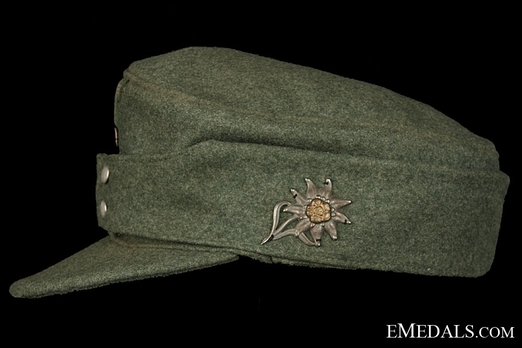 German Army NCO/EM's Mountain Cap Left Side