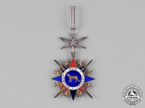National Order of the Leopard, Military Division, Commander (1966-1977, 1997-) Obverse