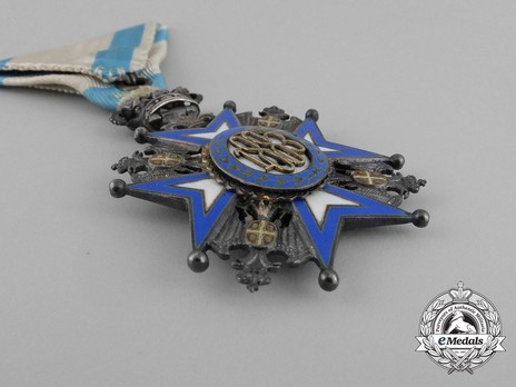 Order of Saint Sava, Type II, V Class Reverse