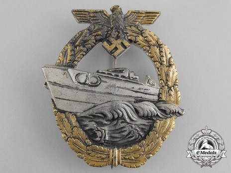 E-Boat War Badge, Type II, by R. Souval Obverse