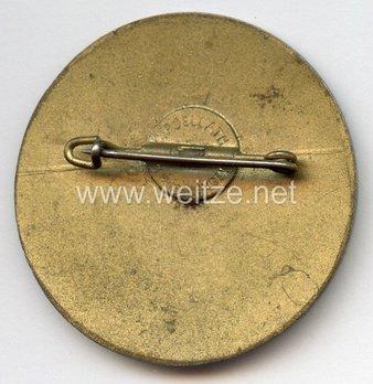 Tyrolean Marksmanship Gau Achievement Badge, Type VI, for Small Calibre Rifle Reverse