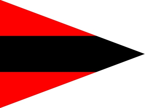German Army Staff Flag for Battalions (Artillery version) Obverse