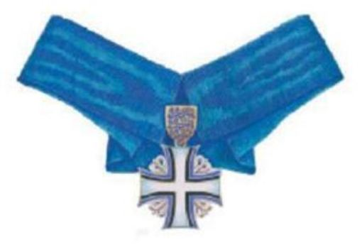 Order of the Cross of Terra Mariana, II Class Cross Obverse