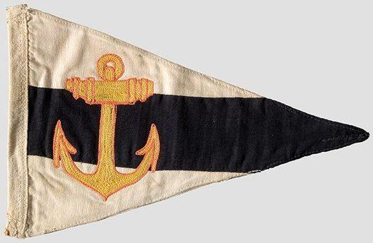 Kriegsmarine Battalion Commander Pennant Obverse