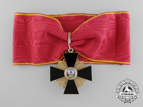 Order of St. Anne, Type II, Civil Division, II Class Cross (in black enamel)
