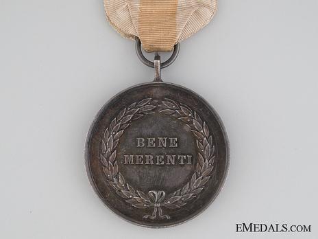 Bene Merenti Medal, Type II, Silver Medal (for Civil Merit) Reverse