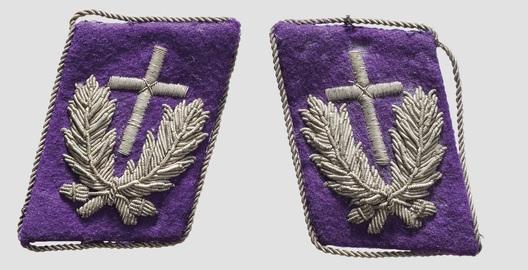 Kriegsmarine Chaplains Collar Tabs (1st pattern) Obverse